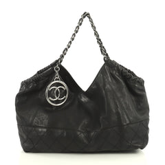 Chanel Baby Coco Cabas Quilted Leather Large Black 440191