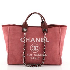 Chanel Deauville Tote Canvas Large