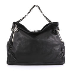 Chanel Ultimate Soft Hobo Leather Large Black 440402