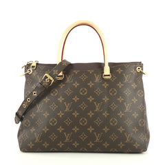 Louis Vuitton Pallas Tote Monogram Canvas Brown 440442