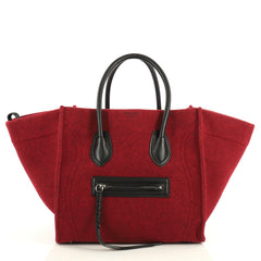 Celine Phantom Bag Felt Medium Red 4405913