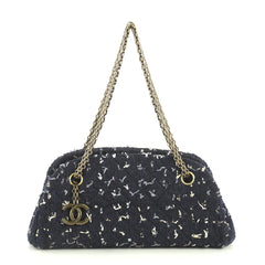 Chanel Just Mademoiselle Bag Tweed Small Blue 440599
