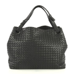 Bottega Veneta Bella Tote Intrecciato Nappa Large Black 440621