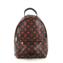 Louis Vuitton Palm Springs Backpack Limited Edition Monogram Infrarouge PM Black 440628