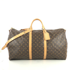 Louis Vuitton Keepall Bandouliere Bag Monogram Canvas 60 Brown 440641