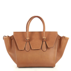Celine Tie Knot Tote Smooth Leather Small Brown 440671