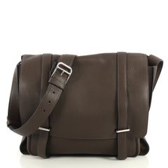 Hermes Steve Messenger Bag Clemence 35 Brown 440885