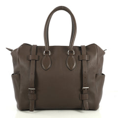 Hermes Pursangle Handbag Leather 35 Brown 440886