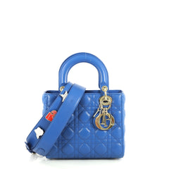 Christian Dior My Lady Dior Bag Cannage Quilt Lambskin Blue 440921