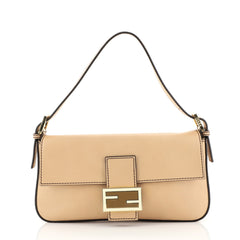 Fendi Convertible Baguette Crossbody Leather Medium Neutral 4409311