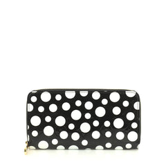 Louis Vuitton Zippy Wallet Kusama Infinity Dots Monogram Vernis  Black 440934