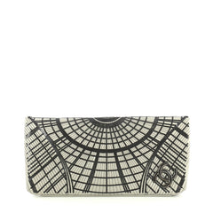 Chanel Grand Palais Clutch Sequin Embellished Stitched Calfskin Gray...