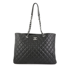 Chanel Classic CC Shopping Tote Quilted Caviar Large Black 440993