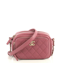 Chanel Business Affinity Camera Case Bag Quilted Caviar Small Pink 4411241