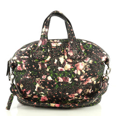 Givenchy Nightingale Satchel Printed Leather Medium Print 4411252