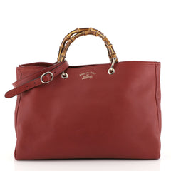 Gucci Bamboo Shopper Tote Leather Large Red 4411268