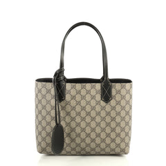 Gucci Reversible Tote GG Print Leather Small Brown 4411270