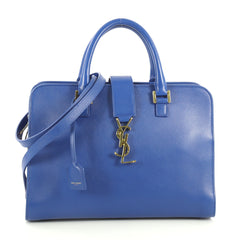 Saint Laurent Monogram Cabas Leather Small Blue 441141