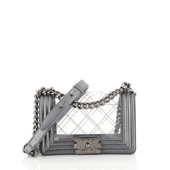Chanel Boy Flap Bag Quilted PVC and Calfskin Small Gray 4411710