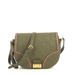 Louis Vuitton Junot Handbag Monogram Empreinte Leather Green 441179