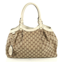 Gucci Sukey Tote GG Canvas Medium Brown 441221