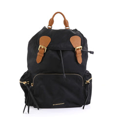 Burberry Rucksack Backpack Nylon with Leather Large Black 441672
