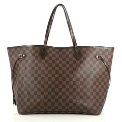Louis Vuitton Neverfull NM Tote Damier GM Brown 441731