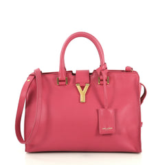 Saint Laurent Classic Y Cabas Leather Small Pink 441752