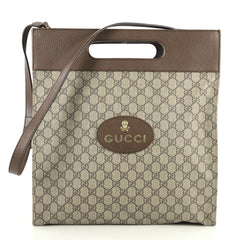 Gucci Neo Vintage Soft Tote GG Coated Canvas Medium Brown 442171