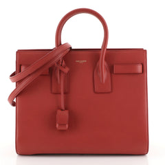 Saint Laurent Sac de Jour Bag Leather Small Red 442301