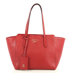 Gucci Swing Tote Leather Small Red 442341