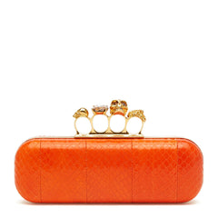 Alexander McQueen Knuckle Box Clutch Snakeskin