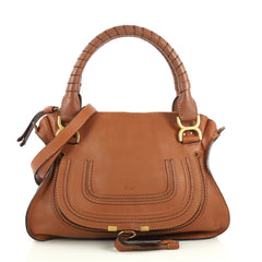 Chloe Marcie Satchel Leather Medium Brown 443042