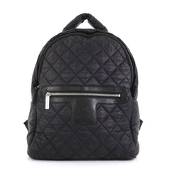 Chanel Coco Cocoon Backpack Quilted Nylon Large Black 4430437
