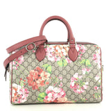 Gucci Convertible Boston Bag Blooms Print GG Coated Canvas Medium Print 443048