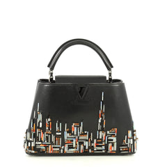 Louis Vuitton Capucines Handbag Limited Edition City Beaded Leather BB Black 4432927