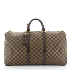 Louis Vuitton Keepall Bag Damier 50 Brown 443297