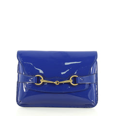 Gucci Bright Bit Clutch Patent Blue 4433211