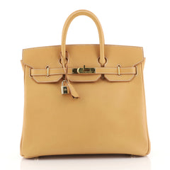 Hermes HAC Birkin Bag Brown Vache Natural with Gold Hardware 32 Brown 4433219