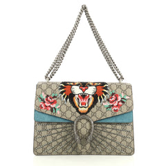 Gucci Dionysus Bag Embroidered GG Coated Canvas Medium Brown 443591