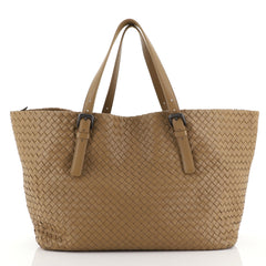 Bottega Veneta A-Shape Tote Intrecciato Nappa Large Brown 443662