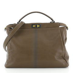 Fendi Peekaboo Bag Ombre Leather Large Brown 4438548