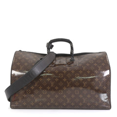 Louis Vuitton Keepall Bandouliere Bag Limited Edition Monogram Glaze Canvas 50 Brown 4438564