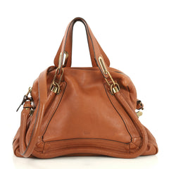 Chloe Paraty Top Handle Bag Leather Medium Brown 4439411
