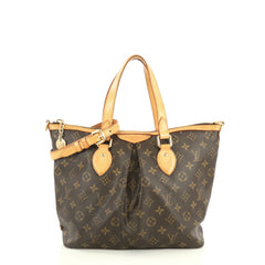 Louis Vuitton Palermo Handbag Monogram Canvas PM Brown 4440013