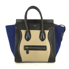 Celine Tricolor Luggage Handbag Leather Mini Multicolor 4440017