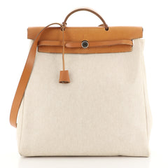 Hermes Herbag Toile and Leather GM Neutral 4440027