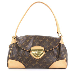 Louis Vuitton Beverly Handbag Monogram Canvas MM Brown 444161