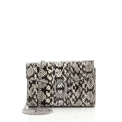 Gucci Dionysus Chain Wallet Python Small Black 444621