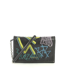 Balenciaga Graffiti Wallet on Chain Leather Black 44471113